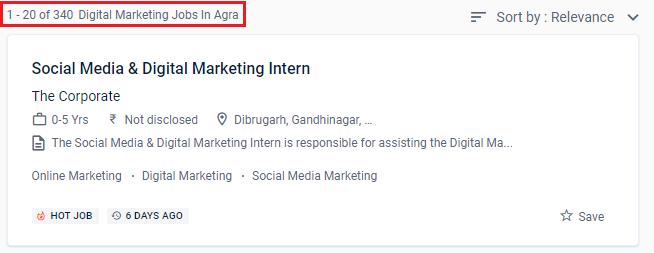 Digital Marketing Institute in Agra - Naukri.com Job Opportunities