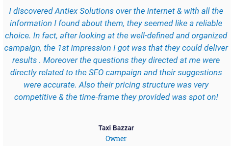 Digital Marketing Services in Ludhiana - Antiex Solutions Client Review
