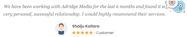 Digital Marketing Services in Trivandrum - Adridge Media Client Review