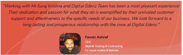 Digital Marketing Services in Trivandrum - Digital Edenz Client Review