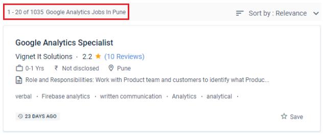 Google Analytics Courses in Pune - Job Opportunities