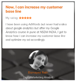 Google Analytics Courses in Pune - NSDM Student Review