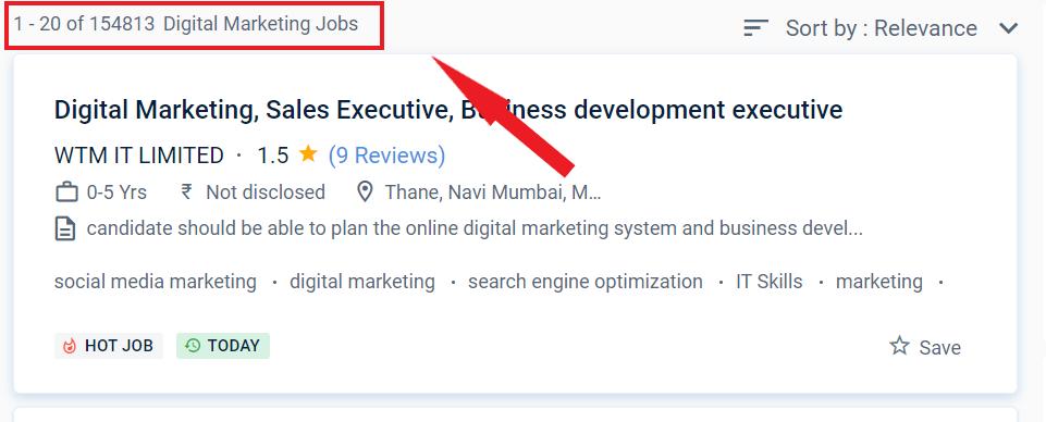 Post-Graduation in Digital Marketing  - Job Statistics