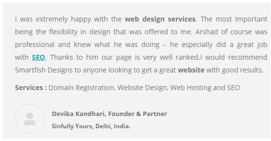 SEO Agencies in Ahmedabad - Smart Fish Client Review