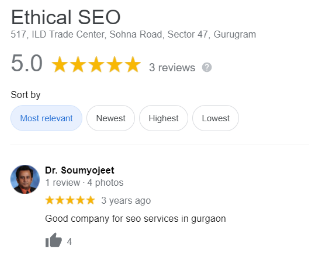 SEO Agencies in Gurgaon - Ethical SEO Client Review