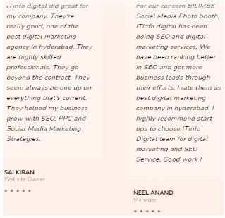 SEO Agencies in Hyderabad - IT Info Digital Client Review