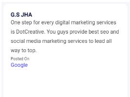 SEO Agencies in Kolkata - Dot Creative Client Review