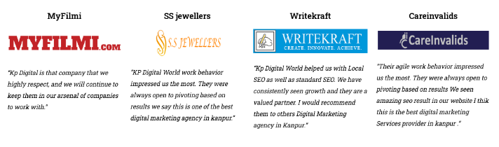 SEO Companies in Kanpur - KP Digital World Clients With Review