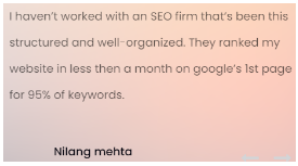 SEO Companies in Rajkot - Charge SEO Client Review