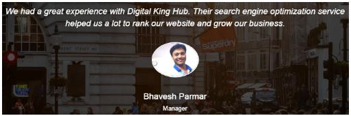SEO Companies in Rajkot - Digital King Hub Client Review
