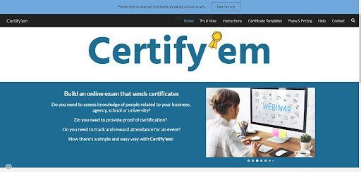 Tools for online teaching - Certify'em