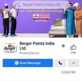 Berger Paints Social Media Facebook - Marketing Strategy of Berger Paints | IIDE