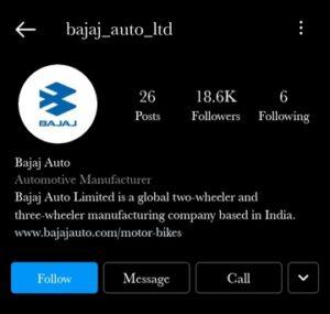 Bajaj auto instagram - marketing strategy of bajaj auto | IIDE