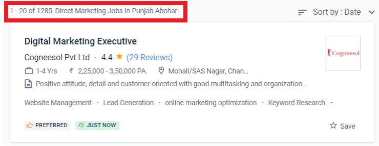 digital marketing courses in ABOHAR - job statistic