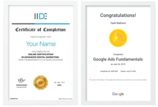 digital marketing courses in BOTAD - IIDE certifications