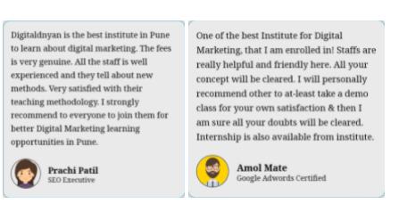digital marketing courses in achalpur - digital dnyan student testimonials