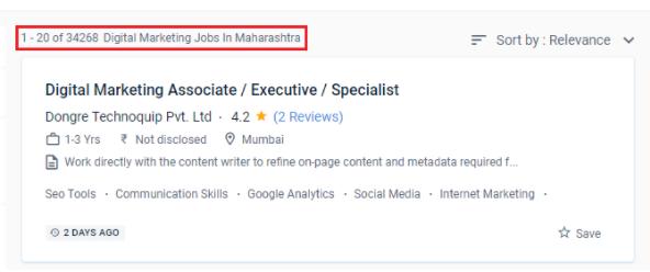digital marketing courses in achalpur - job statistics