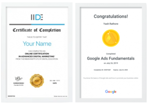 digital marketing courses in anand - IIDE certifications