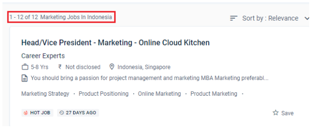 digital marketing courses in bali - job statistics