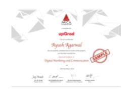 digital marketing courses in bali - upgrad certificate