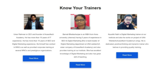 digital marketing courses in balurghat - acesoftech academy faculty