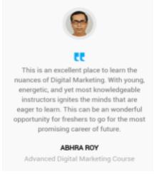 digital marketing courses in bhadreswar - Karmick institute student testimonials