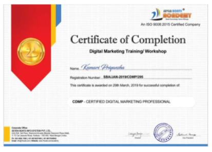 digital marketing courses in bhadreswar - Seven boats academy certificate
