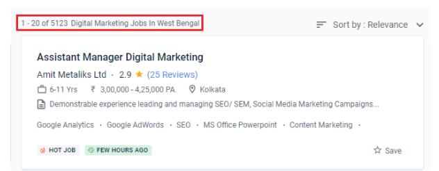 digital marketing courses in bhadreswar - job statistics