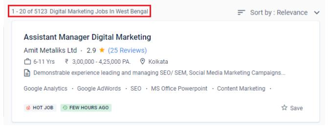 digital marketing courses in bhatpara - job statistics