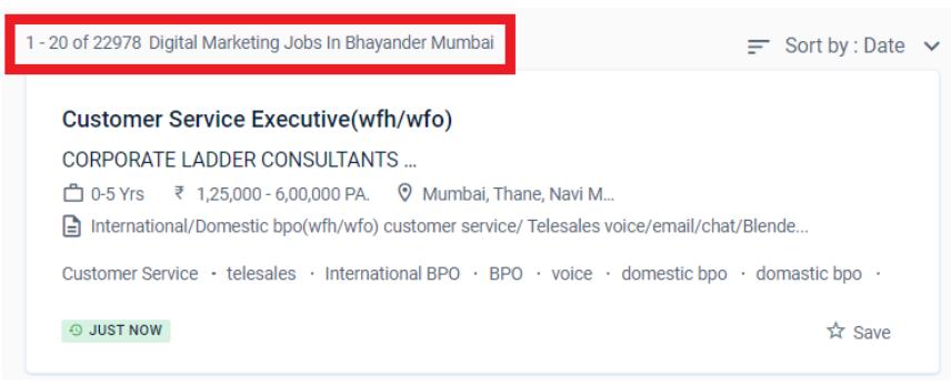 digital marketing courses in bhayandar - job statistic