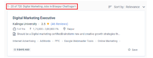 digital marketing courses in bilaspur - job statistics