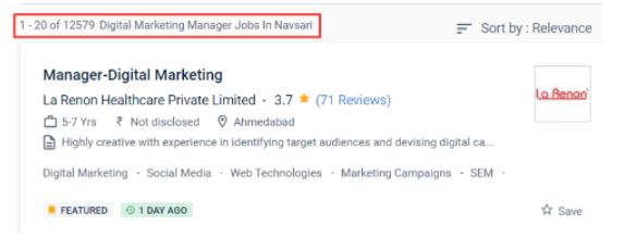 digital marketing courses in bilimora - job statistics