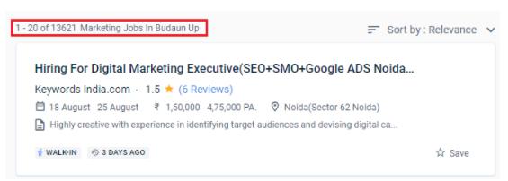 digital marketing courses in budaun - job statistics