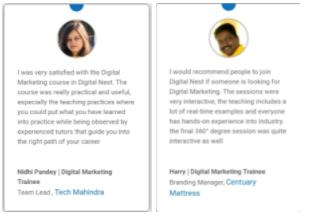 digital marketing courses in chandrapur - digitalnest student testimonials