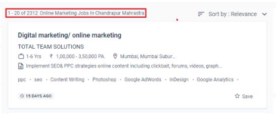 digital marketing courses in chandrapur - job statistics