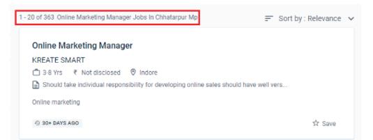 digital marketing courses in chhatarpur - job statistics