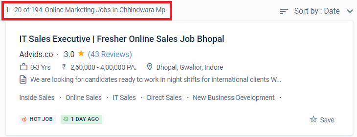 digital marketing courses in chhindwara - job statistic