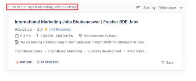 digital marketing courses in cuttack - job statistics