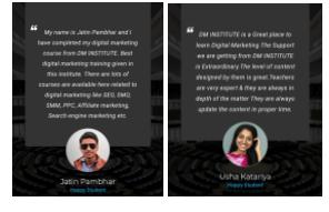 digital marketing courses in dimapur - Dm institute student testimonials