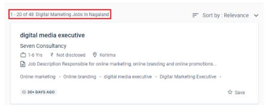 digital marketing courses in dimapur - job statistics