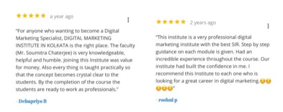 digital marketing courses in dum dum - kinematics student testimonials