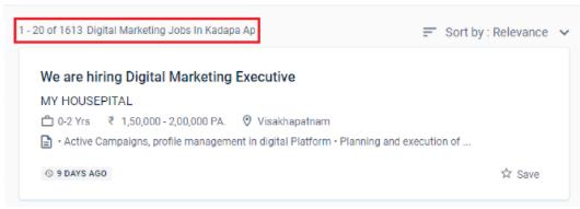 digital marketing courses in kadapa - job statistics