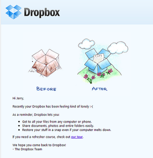 email marketing tips and samples - dropbox