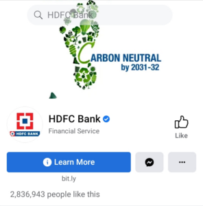 HDFC Bank Facebook Handle | Marketing Strategy of HDFC Bank | IIDE