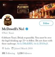 McDowells twitter - Marketing Strategy of McDowells   IIDE