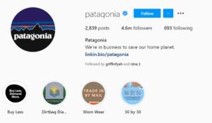 Patagonia instagram - Patagonia Marketing Strategy