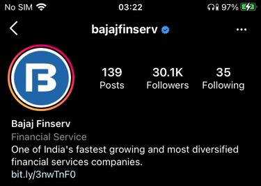 Bajaj Finserv Instagram - Bajaj Finserv Marketing Strategy | IIDE
