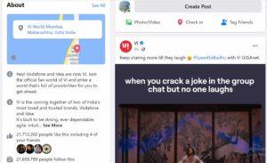 Vodafone Idea Facebook - Idea Marketing Strategy | IIDE