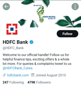 HDFC Twitter Account | Marketing Strategy of HDFC Bank | IIDE