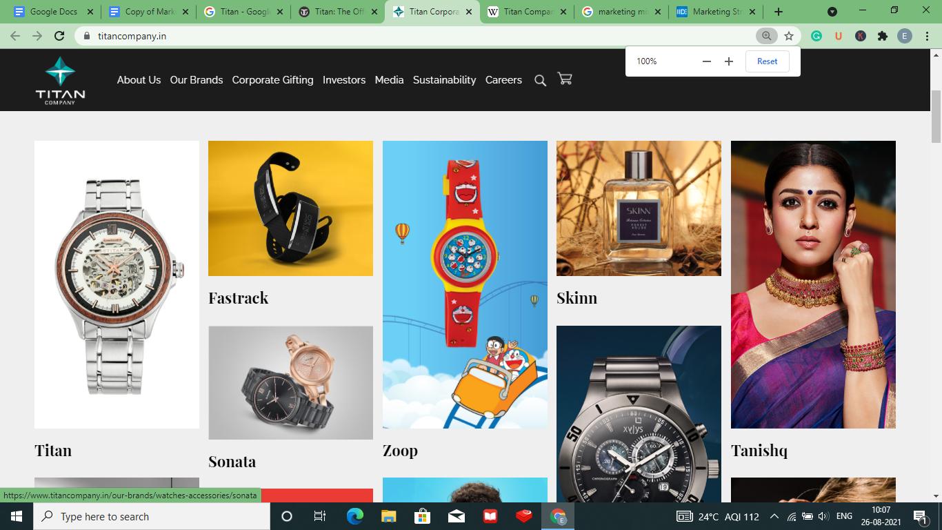 product mix of Titan-Marketing mix of Titan    IIDE